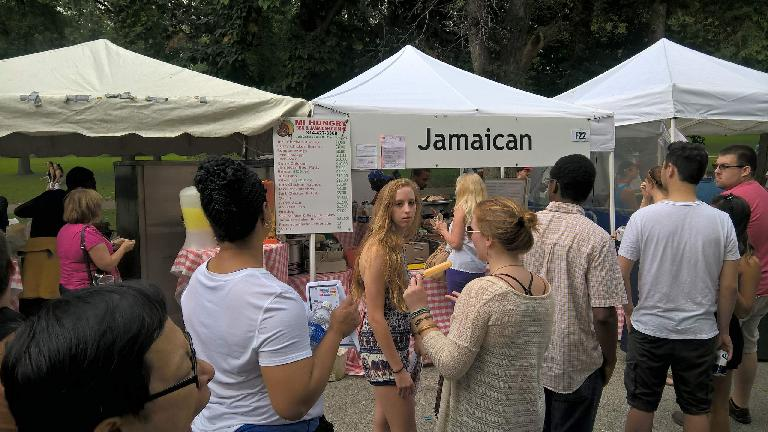 Mi Hungry Jamaican booth at the Festival of Nations.