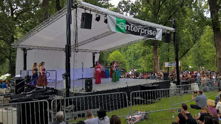 belly dancers at the Festival of Nations