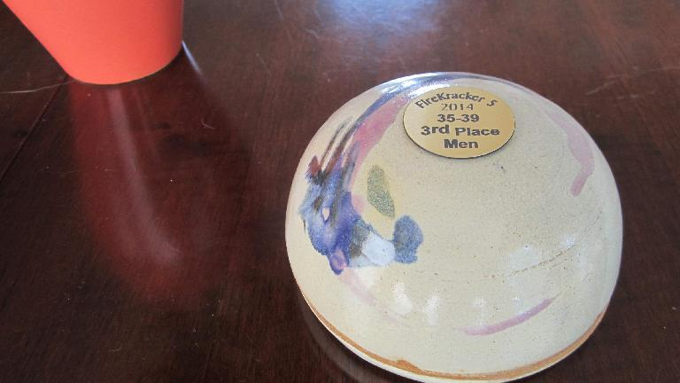 I came in 3rd place in my age group and was awarded this piece of pottery.