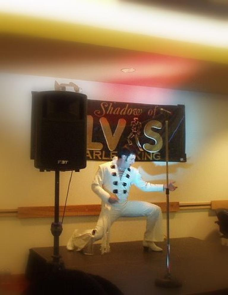 Elvis lives! Or at least Charles King, supposedly a world-class Elvis impersonator who performed for President Clinton privately...