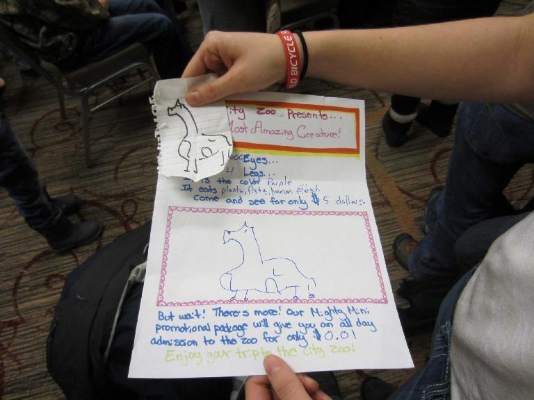 Like magic, the piece of paper did have a drawing similar to what Kelly drew!