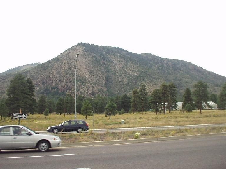 Now in Flagstaff, you can see that there are quite a few pine trees up here.  The climate is different than the rest of (typically baking) Arizona due to being almost 7,000' in elevation.