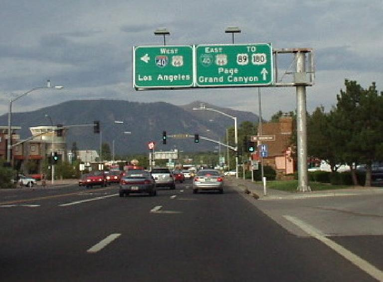 "Many freeways run right through the center of Flagstaff, making this feel very much like a ""drive-thru town""."