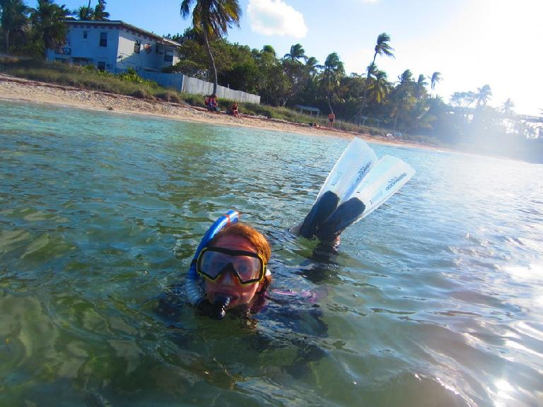Kelly snorkeling in Bahia Honda.