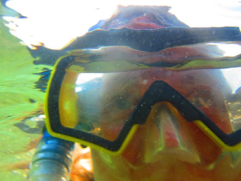 Underwater now.