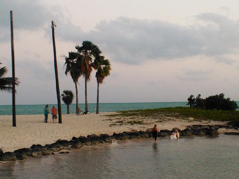 Also at the beach was a new bride taking photos for over an hour, many in the water! (February 11, 2012)