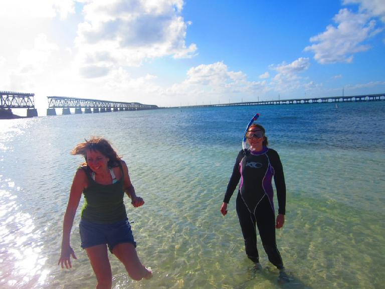 Sally and Kelly at Bahia Honda.