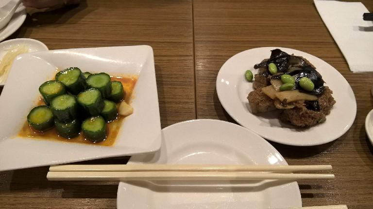 Cooked cucumber and taro. (April 26, 2016)