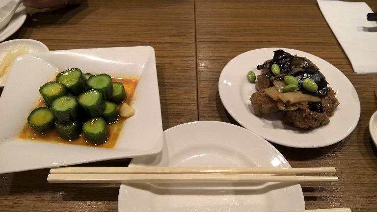 Cooked cucumber and taro. (April 26, 2016)