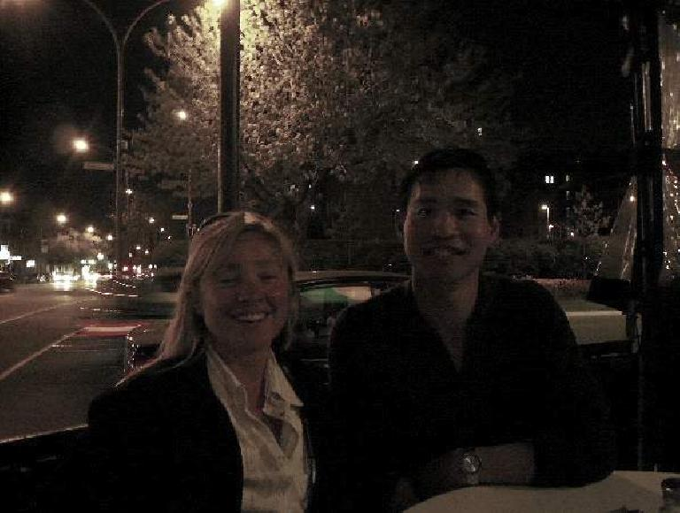 """""""People in Montreal love to dine outside,"""" said Sylvie in French.  And so we had drinks on the terrace..."""