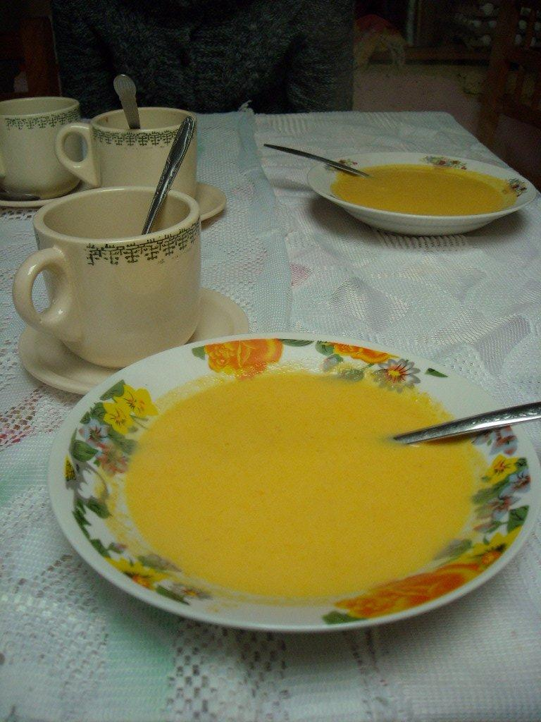 A soup made from squash at a restaurant in Capulalpan de M̩ndez. (December 21, 2009)