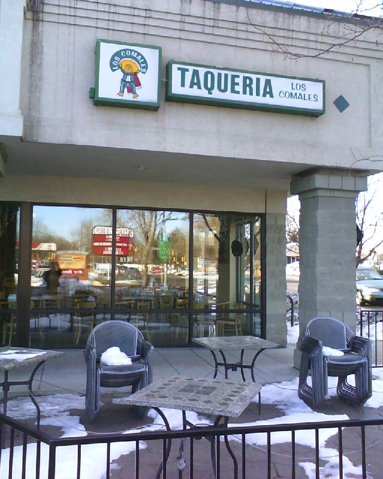 A few days after returning to Fort Collins, I had lunch at Taqueria Los Comales. (December 31, 2009)