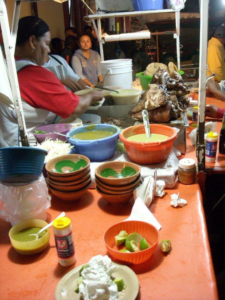 Our favorite street food vendor in Oaxaca de Ju
