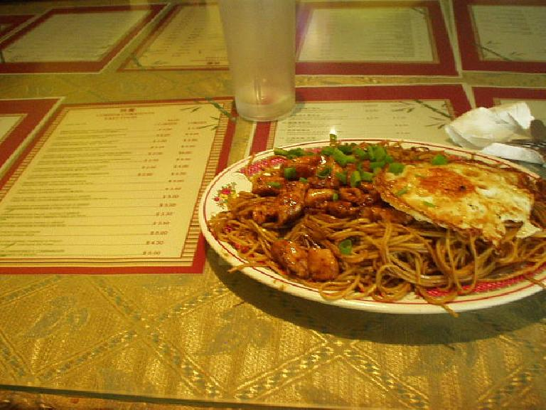 This delicious dish of chinese food was $2. (March 11, 2007)