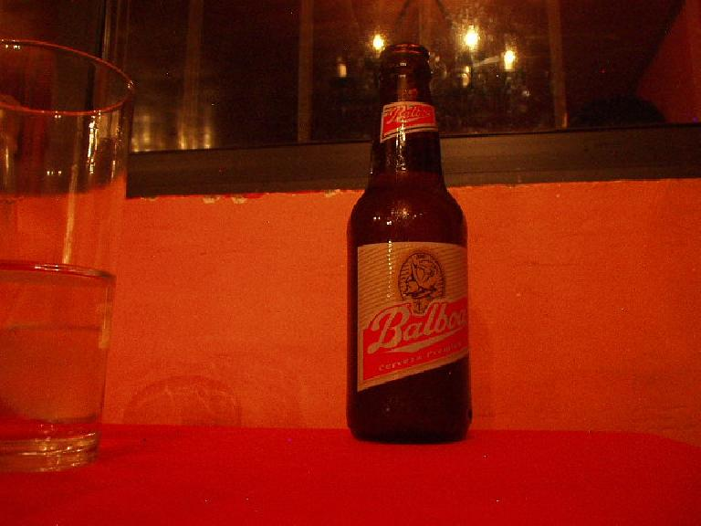 "I tried Cerveza Balboa one night.  ""Like Budweiser,"" I observed. (March 5, 2007)"