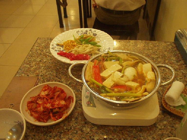 Korean noodles in Saigon. (July 5, 2006)