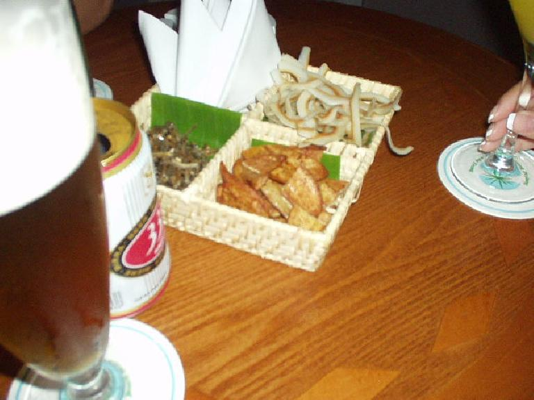 Fried banana and coconut in Sky Lounge in Nha Trang. (July 14, 2006)