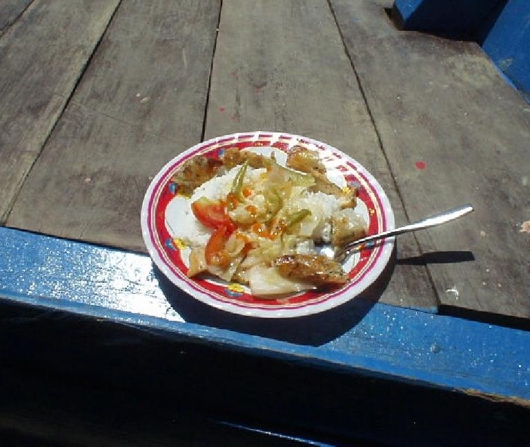 Rice dish on boat to Hoi An after My Son tour. (July 7, 2006)