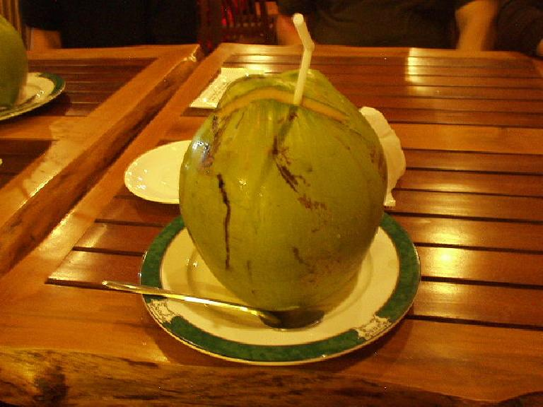 Coconut drink in Mui Ne.