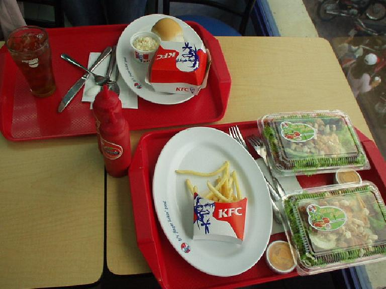 KFC in Saigon was very much like that in the U.S.. (July 19, 2006)
