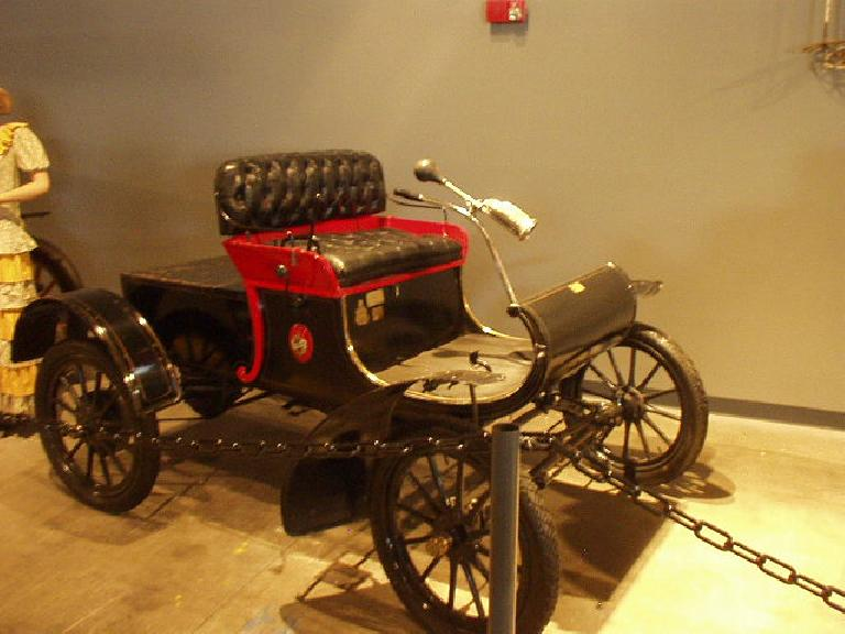 The Oldsmobile Curved Dash, America's first mass-produced car.