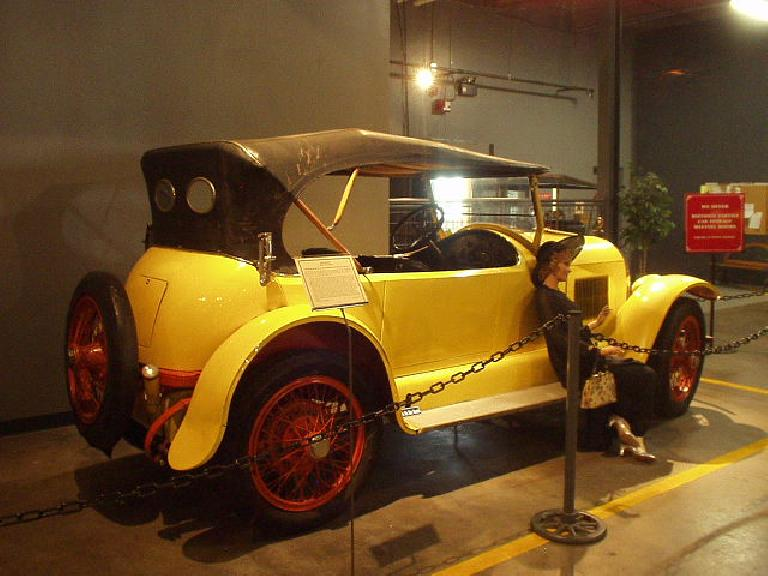 The Forney Museum's first car: a yellow Kissel.