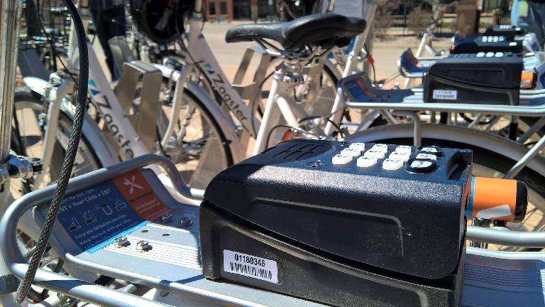 Digital access system for Zagster city share bicycle.