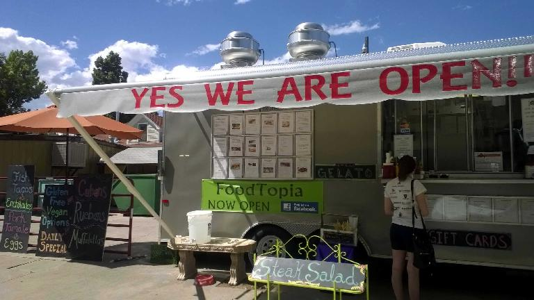 Foodtopia food truck, yes we are open, Fort Collins