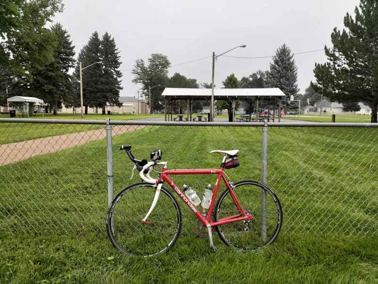 My red 1992 Cannondale 3.0 at Highland Middle School in Ault, CO.