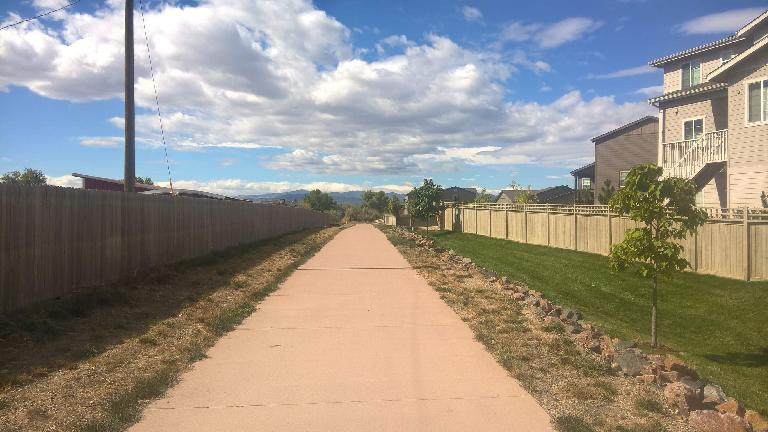 The North Branch of Fossil Creek Trail east of Radiant Park in Fort Collins.