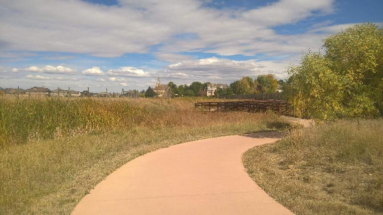 The Fossil Creek Trail north of Carpenter Rd.
