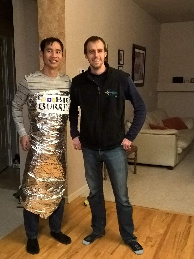 Felix Wong dressed as a burrito, Alberto