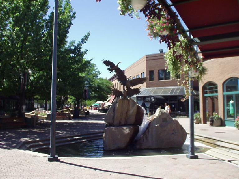Downtown Fort Collins was really nice!  Very pedestrian friendly with lots of cool shops and restaurants and colorful flowers everywhere.