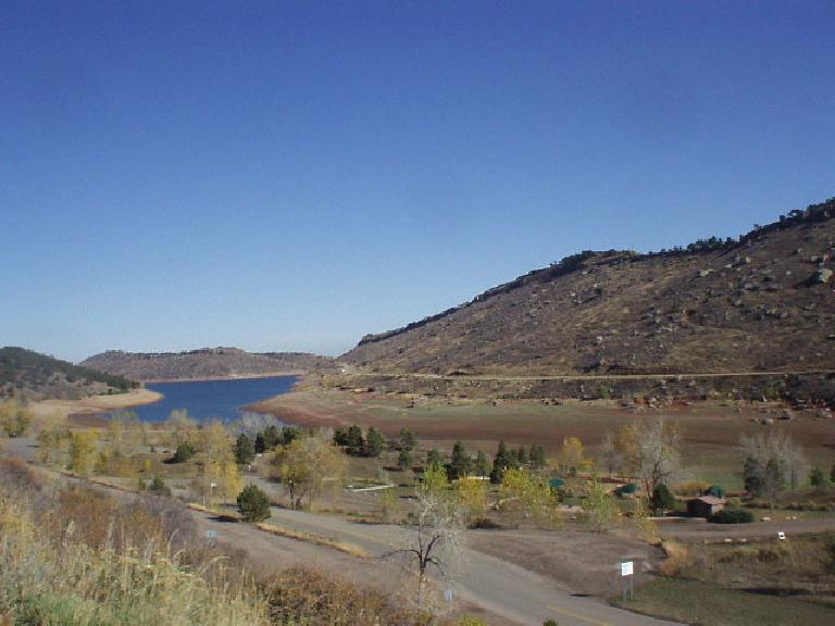 Another shot of the Horsetooth Reservoir and Mountains.