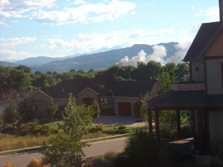 A $1 million, three-alarm fire of an industrial building just west of Fort Collins as seen from my home. (August 10, 2010)
