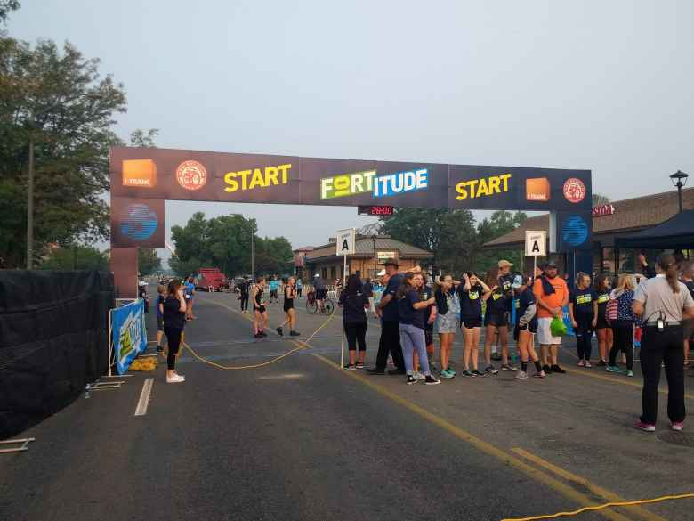 The start line of the 2017 Fortitude 10k in Fort Collins.