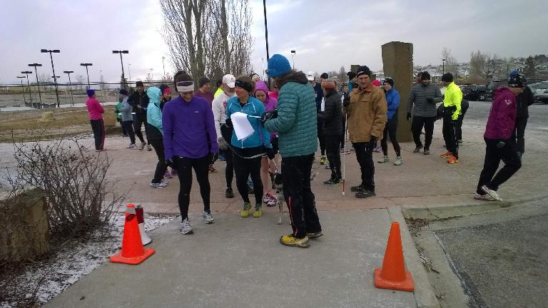 Runners at the start of the Fossil Creek Park 5k.