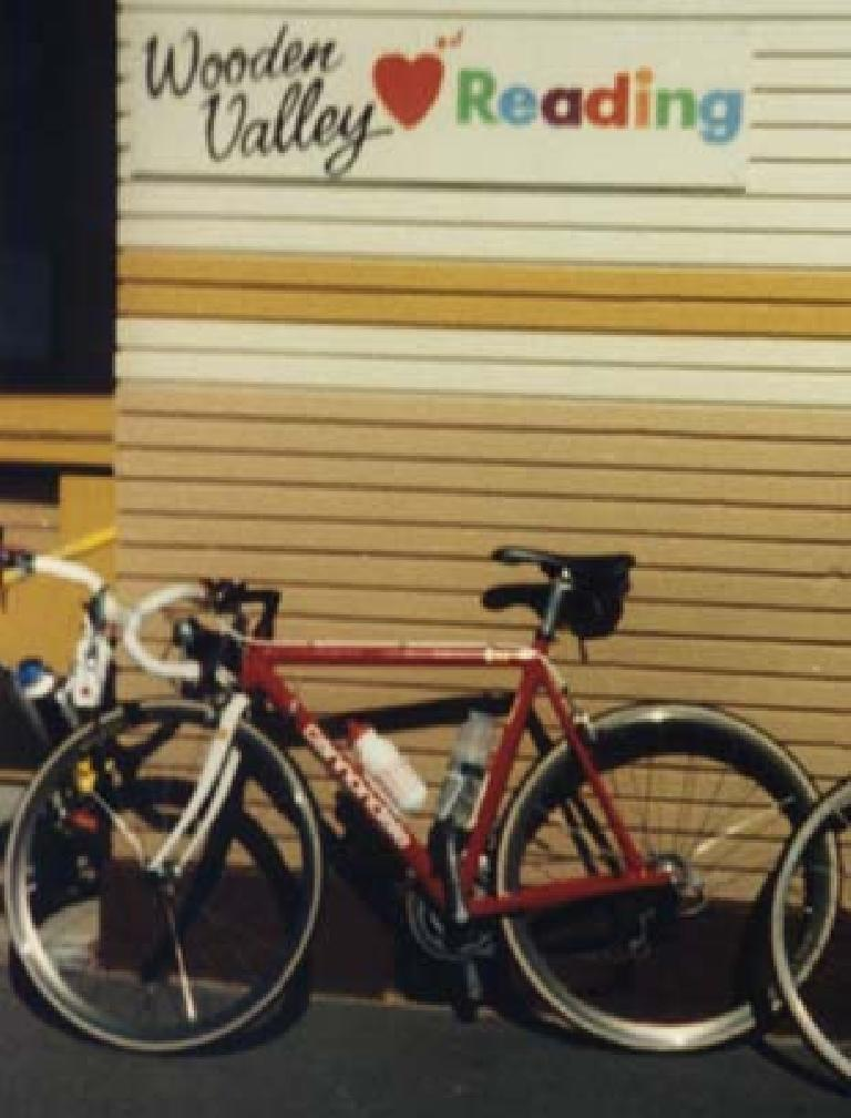 Felix Wong's red Cannondale 3.0, Wooden Valley Elementary School, I love reading
