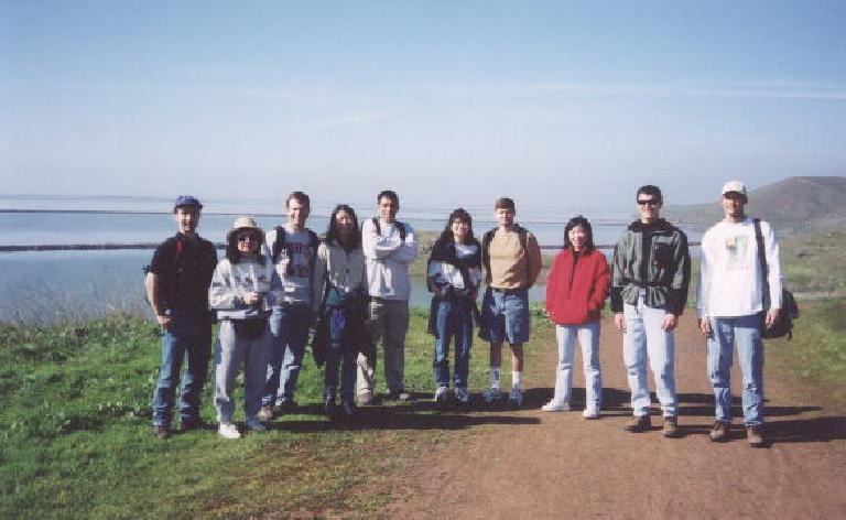 [Feb.  2002] The rest of the Stanford C-Ya gang at Coyote Hills. (February 3, 2002)