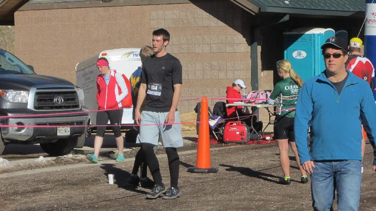 Kyle in the finishing chute.
