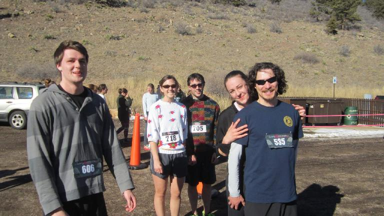 Andrew, Dani, Nick, Katherine and Hector after the run.