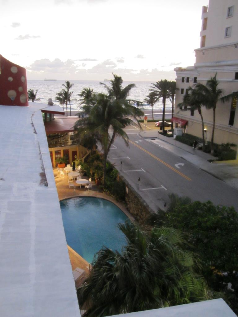 The view from the Sea Club Hotel. (February 7, 2013)