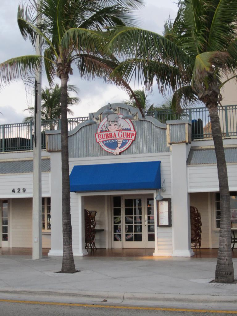 There's a Bubba Gump factory here, just like in Monterey, CA. (February 7, 2013)