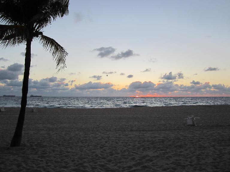 7:04 a.m. sunrise. (February 7, 2013)
