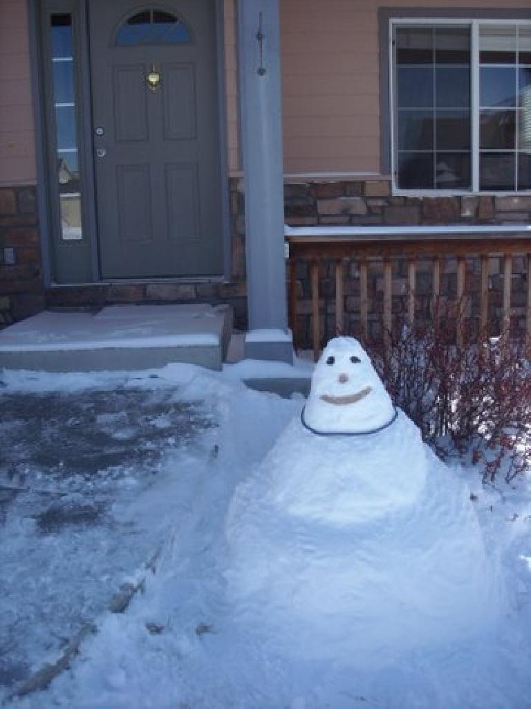 Mr. Snowman visited today.  He didn't stay very long though.