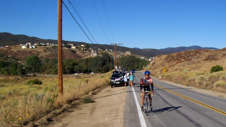 [Mile 40, 9:58 A.M.] Cruising along on about 16 miles of flat land between Mountain Stage 1 & 2.