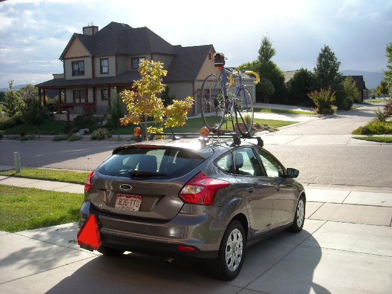 Within hours of picking up the rental car, I had located, purchased, and installed all the mandatory safety equipment for the crew car. (October 5, 2011)