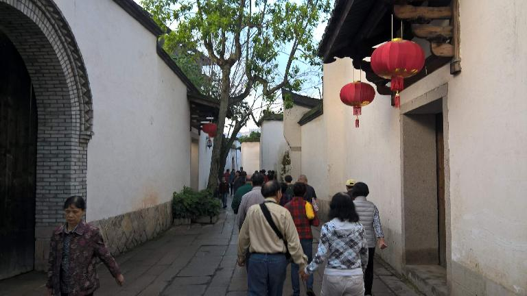 More lanterns off Yangqiao E Rd. in Fuzhou, China.