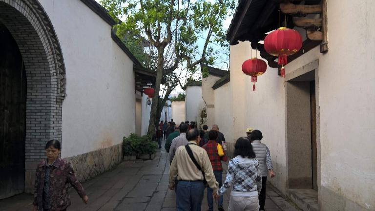 More lanterns off Yangqiao E Rd. in Fuzhou, China.