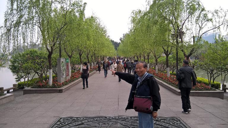 My dad at Zuohai Park in Fuzhou, China. (April 17, 2016)